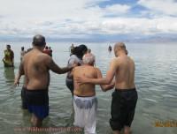 Holy bath in Manasarovar