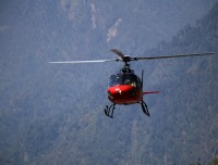 Helicopter in Lukla