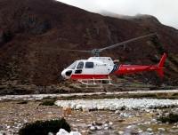 Landing at Muktinath