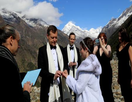 Marriage in Everest base camp